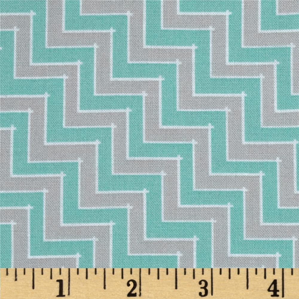Sweet Harmony Chevron Grey/Aqua