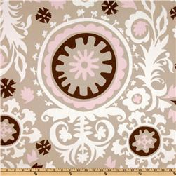 Premier Prints Suzani Twill Cozy/Bella Pink Fabric