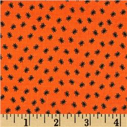 Riley Blake Happy Haunting Spider Orange Fabric