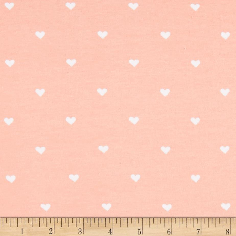 Riley Blake When Skies Are Grey Jersey Knit Heart Pink