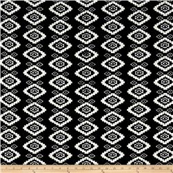 Quilted Knit Aztec Tribal Black/White