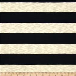 Yarn Dyed Hatchi Knit Stripe Navy/Ivory