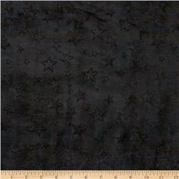 Minky Embossed Star Cuddle Black