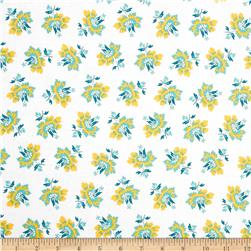 New Orleans 1850 Tossed Floral Blue/Yellow