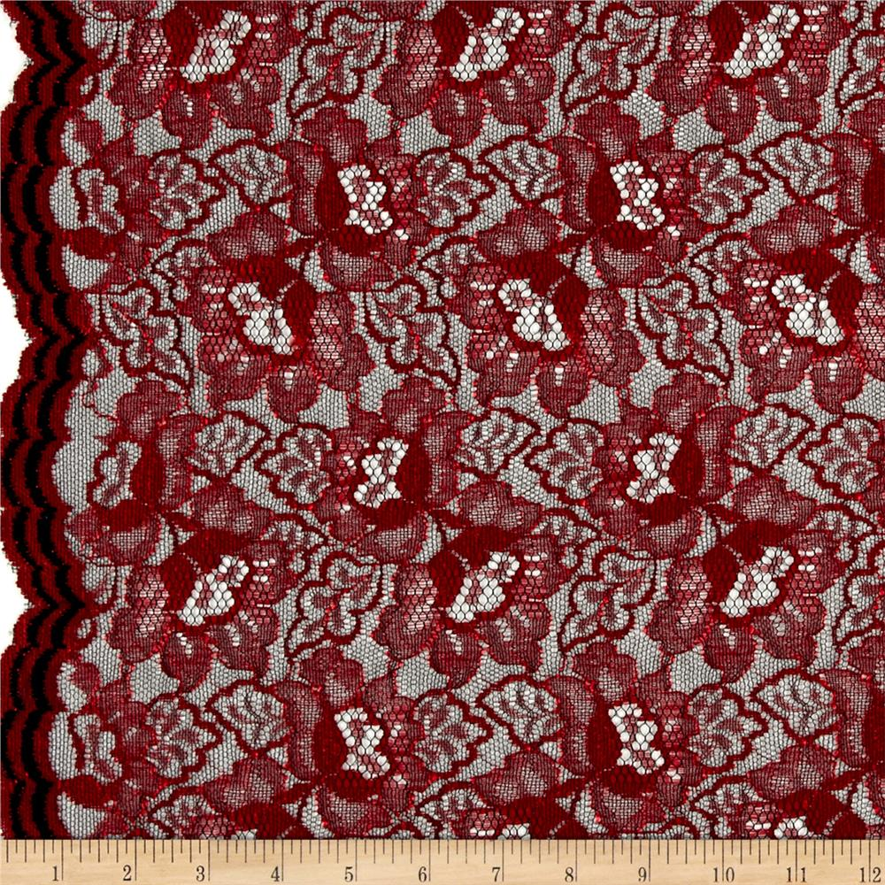 Floral Red Lace