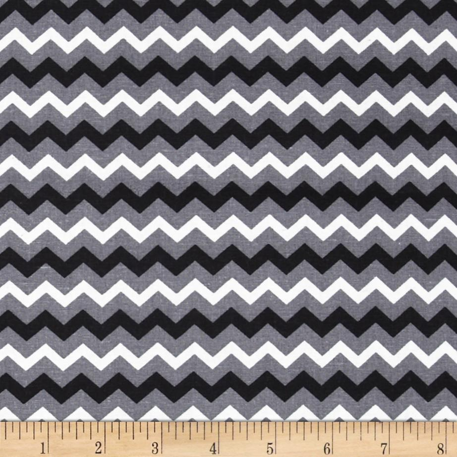Chevron Tonal Black