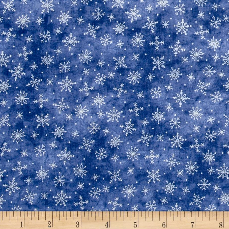 Just Be Claus Stitched Snowflakes Blue