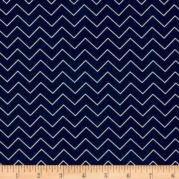 Garden Party Zig Zag Navy