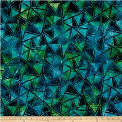 Kaufman Artisan Batiks Graphic Elements Diamonds Grasshopper