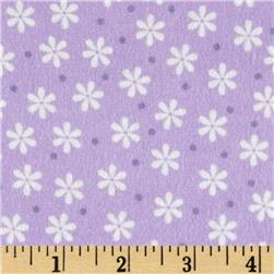 Cozy Cotton Flannel Floral Lavender Fabric