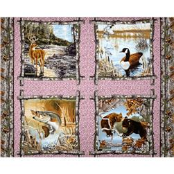 Realtree Pillow 36'' Panel Pink Fabric