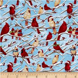 Seasons Greetings Birds Blue/Green