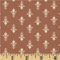 Moda Kindred Spirits Fleur De Lis Brown