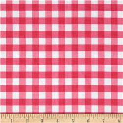 Riley Blake Large Gingham Hot Pink
