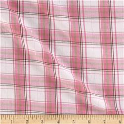 Stretch Yarn Dyed Shirting Plaid Pink.Brown