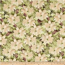 Woodland Holiday Packed Pointsettias Cream