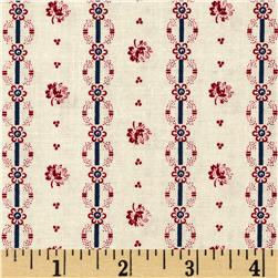 Penny Rose Americana Floral Red