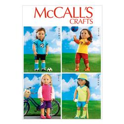 "McCall's Clothes For 18"" (46cm) Dolls Pattern M6904 Size OSZ"