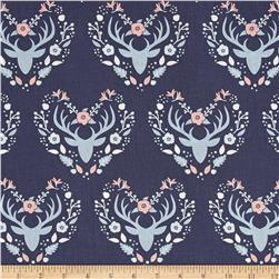 Meadow Antlers Dark Blue