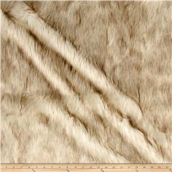 Michael Miller 2 Tone Shag Faux Fur Cream