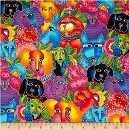 Laurel Burch Dogs & Doggies Metallic Packed dogs  Multi