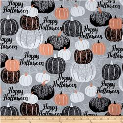 Potions & Spells  Metallic Pumpkins Gray