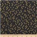 Narumi Metallic Abstract Check Black/Gold