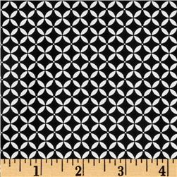 Black Magic Stretch Poplin Geometric Black/White