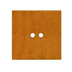 2'' Leather Button Square  Tan
