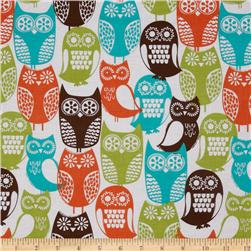 Michael Miller Cocoa Berry Swedish Owls Brown