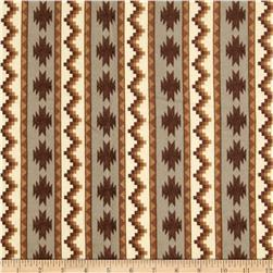 Timber Lodge Flannel Geo Stripe Earth Brown