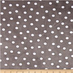 Shannon Minky Cuddle Prints Alotta Dots Graphite