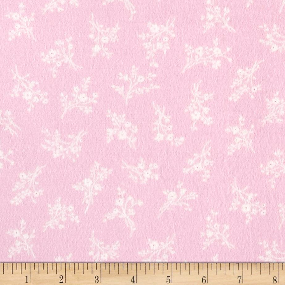 Afternoon In The Attic Flannel Cameo Blossom Rose Fabric