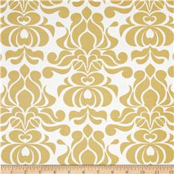 Riley Blake Valencia Laminated Cotton Damask Yellow
