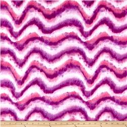 Fleece Print Tie Dye Swirls Pink