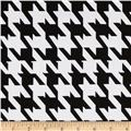 Stretch Poplin Houndstooth Black/White