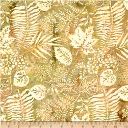Island Batik Sweet Georgia Peach Fern Gren/Rust/Gold