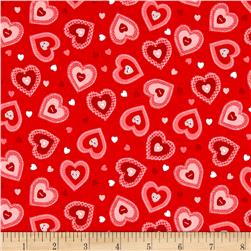 Riley Blake Kewpie Love Heart Red