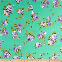 Chiffon Purple Rose Green