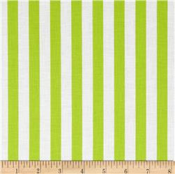 Riley Blake 1/2'' Stripe Lime Fabric