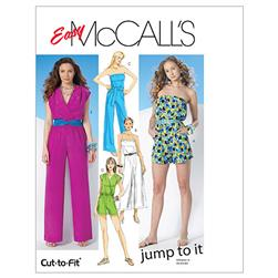 McCall's Misses' Jumpsuit In 3 Lengths and Sash Pattern M6083 Size AX5