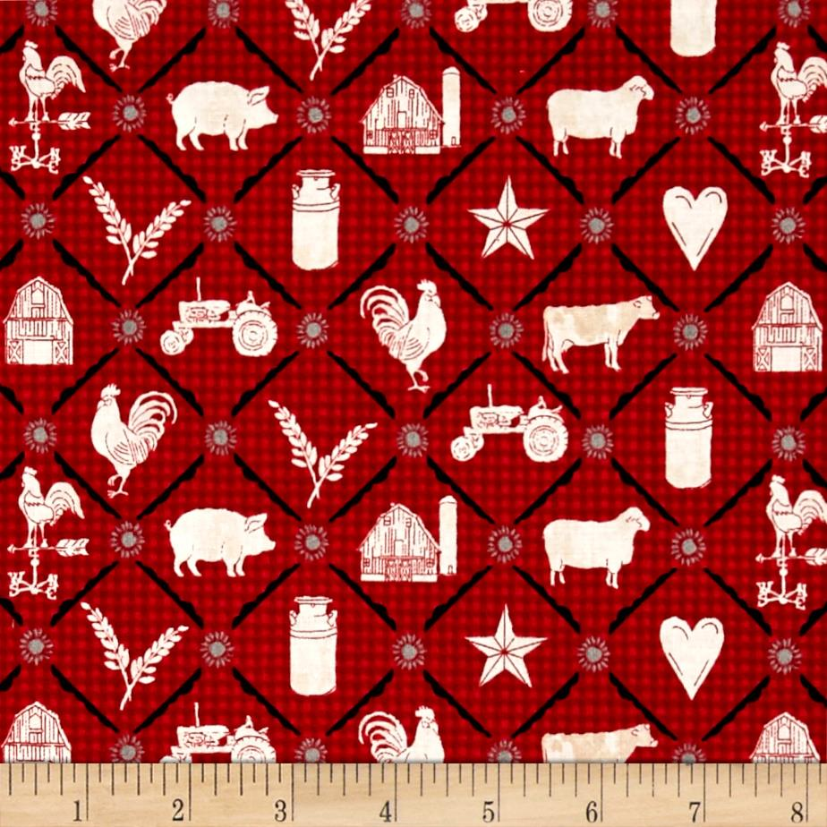 Farm to Table Animal Grid Red