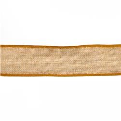 May Arts 1 1/2'' Faux Burlap Wired Ribbon