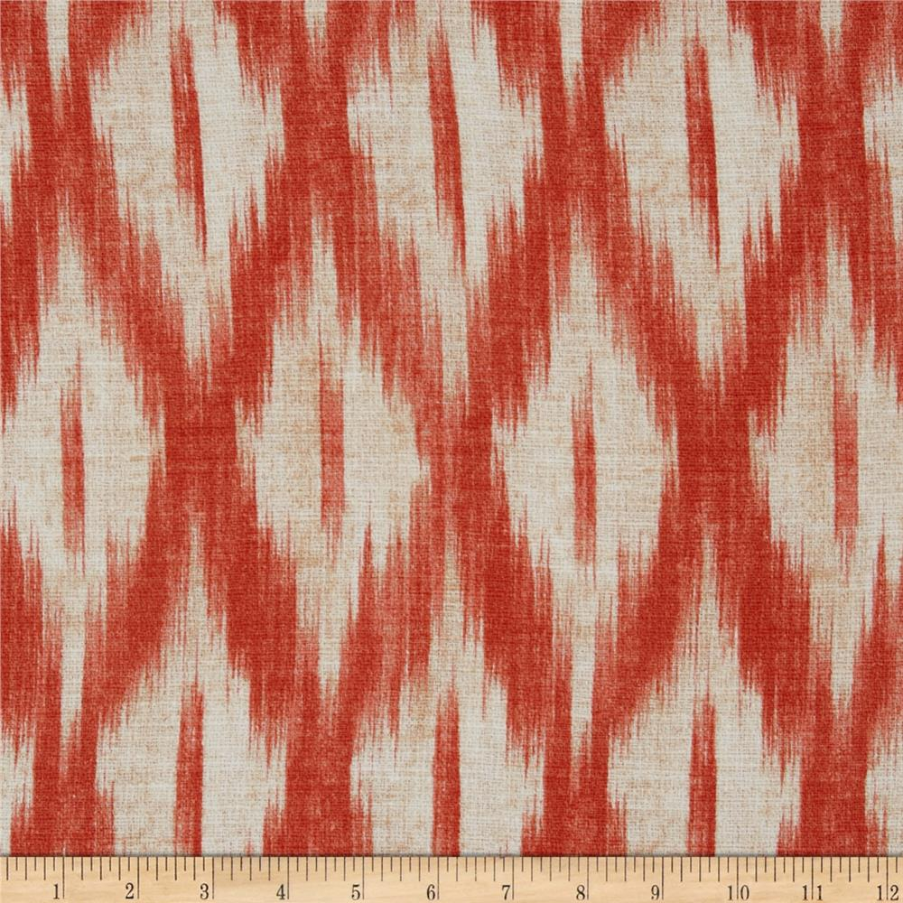 Swavelle Mill Creek Tizia Ikat Poppy Discount Designer