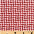 Penny Rose Meadow Sweets Houndstooth Red