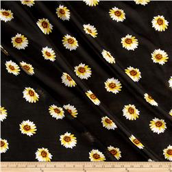 Chiffon Sunflowers Black/Yellow