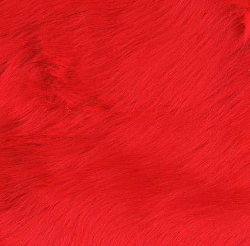 Faux Fur Luxury Shag Fire Red