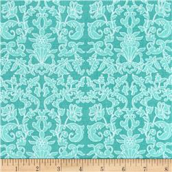 Riley Blake Into the Gaden Damask Teal