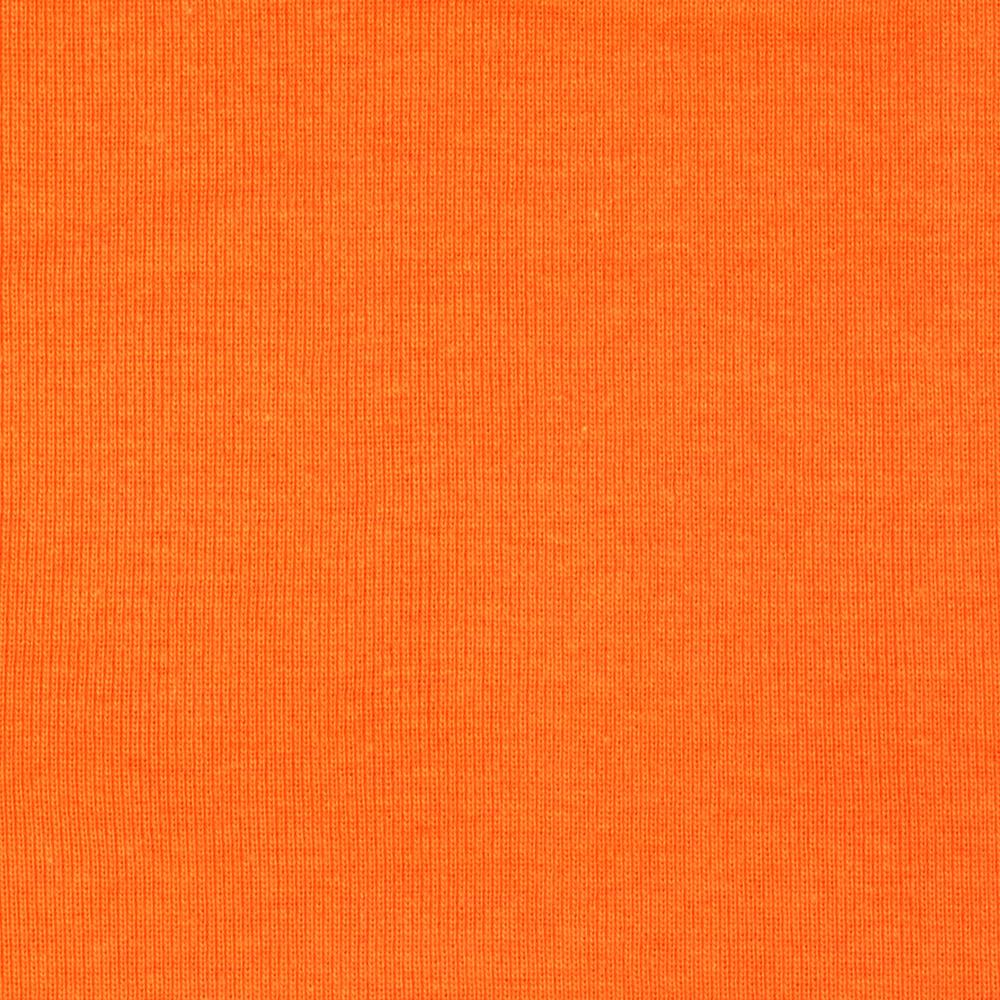 Basic Cotton Baby Rib Knit Solid Pumpkin Orange