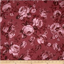 Michele's Rose 108 In. Wide Quilt Back Cranberry